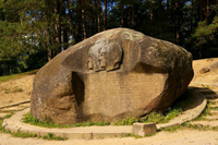 Puntukas is large boulder in Lithuania.
